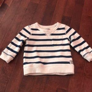 Cream and navy sweater